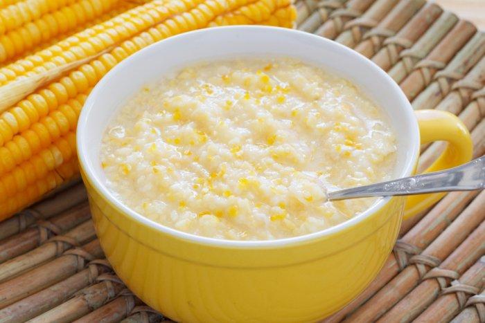 кукурузная молочная каша для грудничка