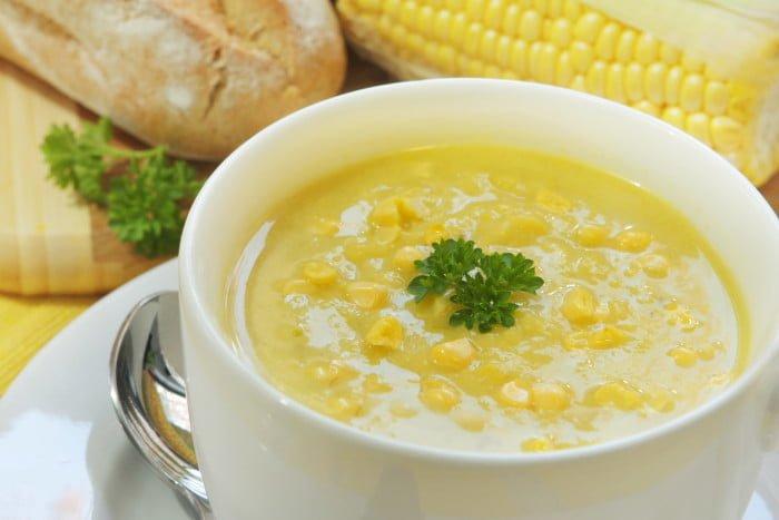 молочный суп с кукурузой для детей