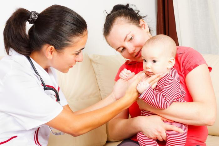 осмотр новорожденного