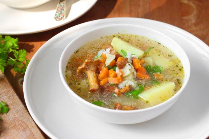 суп из лисичек при грудном вскармливании