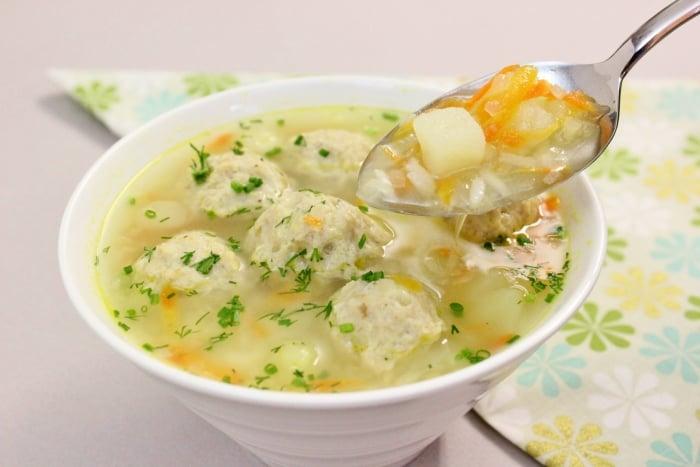 суп с рыбными фрикадельками для грудничка