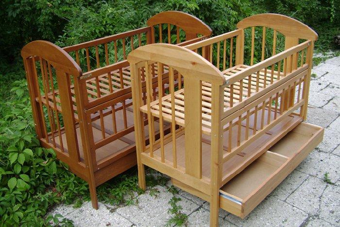 кроватка с двойным дном для новорожденного