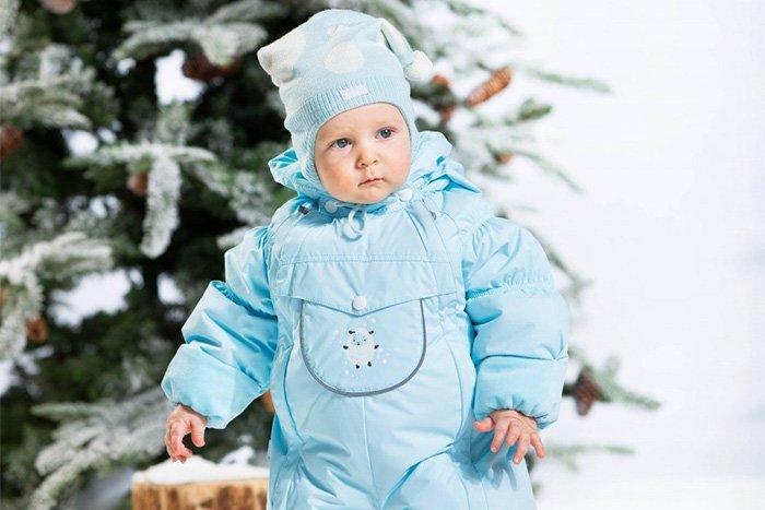 теплый зимний комбинезон на ребенка