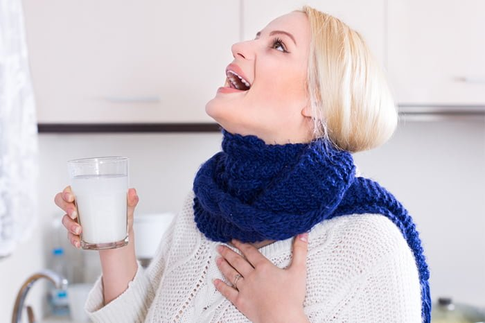 полоскание горла содой