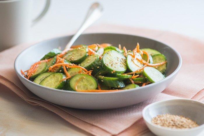 овощной салат с имбирем