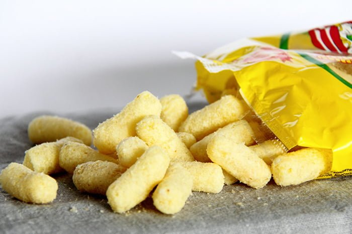 кукурузные палочки в упаковке