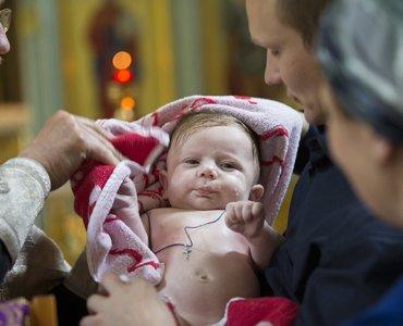 крестик для крещения ребенка