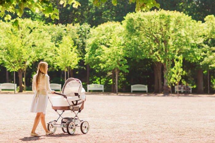 первая прогулка с новорожденным летом