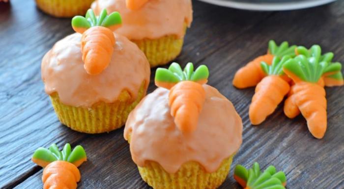 Морковные кексы для детей