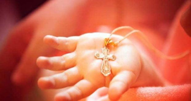 Крест на крещение ребенка