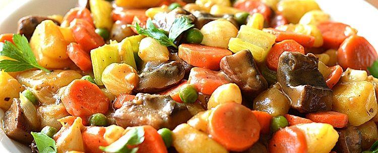 Тушеные овощи при грудном вскармливании
